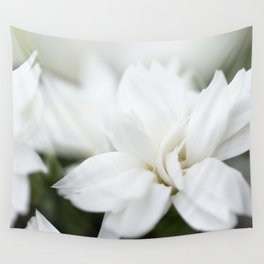 Snow White Flowers on a Dark Background #decor #society6 #buyart Wall Tapestry