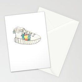 White Sneeker Sketch Stationery Cards