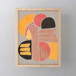 Modern shapes 2 Framed Mini Art Print