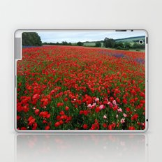Pink Poppies in a field of Red Laptop & iPad Skin