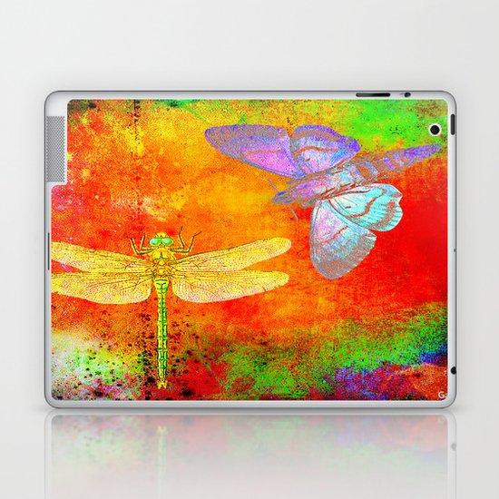The Dragonfly and the Butterfly Laptop & iPad Skin