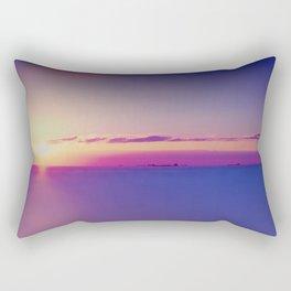 Sunset on the Atlantic Ocean Rectangular Pillow