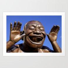 Yue Minjun Laughing men 1 Art Print