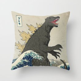 The Great Godzilla off Kanagawa Deko-Kissen