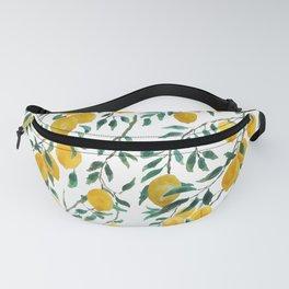 watercoor yellow lemon pattern Fanny Pack