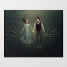 Underwater Couple Canvas Print