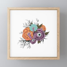 Flowers With Eyes | Halloween Flower With Tongue Framed Mini Art Print
