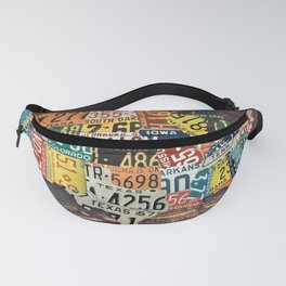 License Plate Map Of The United States Fanny Pack