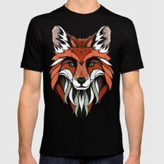Fox // Colored MEDIUM Mens Fitted Tee Black
