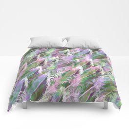 Feather Fancy — Soft Greens • Pinks • Voilets Comforters