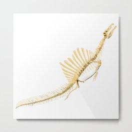 Spinosaurus Aegyptiacus (skeleton surfacing) Metal Print