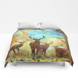 Autumn Forest Watch Comforters