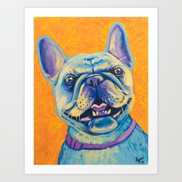French Bulldog (includes rescue donation!) Art Print