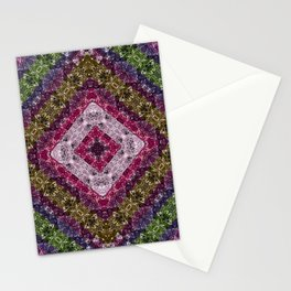 Colorful abstract pattern, patchwork, multicolored, plaid, multicolored plaid, bright, ethnic , Stationery Cards