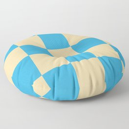 classic retro checked pattern Machyles Floor Pillow
