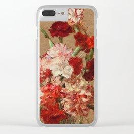Henri Fantin Latour - Carnations Without Vase Clear iPhone Case