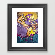 Guitar Player Framed Art Print