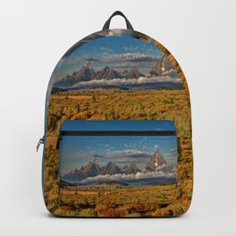 TheGrand Teton National Park in the Fall Panorama Backpack