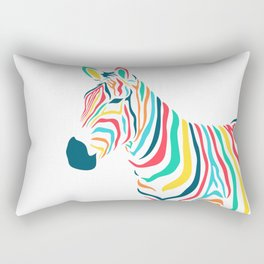 zebra, unique color illustration Rectangular Pillow