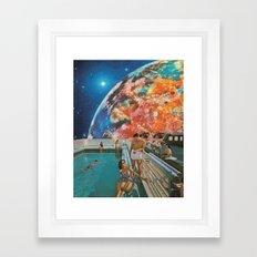 Moon Burn Framed Art Print