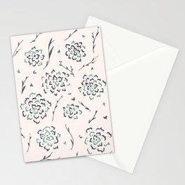 Mantra Flower_blue Stationery Cards