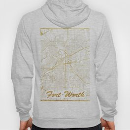 Fort Worth Map Gold Hoody