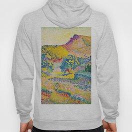 Henri-Edmond Cross Neo-Impressionism Landschaft mit Le Cap Nègre Paysage avec le cap Nègre Hoody