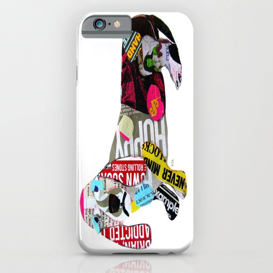 dachshund graffiti iPhone & iPod Case