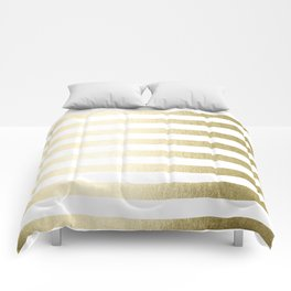 Simply Striped Gilded Palace Gold Comforters