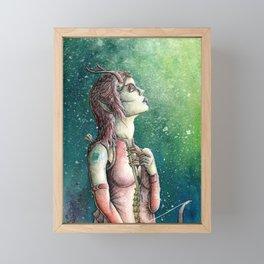 Bosmer Female Portrait ESO Fanart Framed Mini Art Print