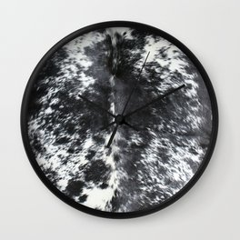Black and white cowhide Wall Clock