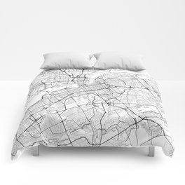 Ottawa Map White Comforters