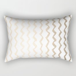 Golden Zigzag Rectangular Pillow