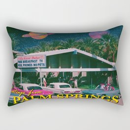 greetings from palm springs Rectangular Pillow