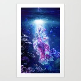 The Mermaid's Encounter Art Print