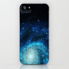 Teal Pinwheel Galaxy Slim Case iPhone SE