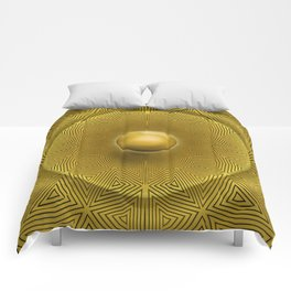 Golden Sunrise Pattern Comforters