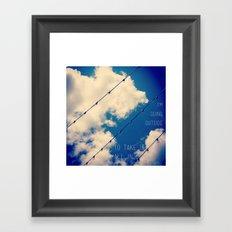 Sky Lights Inspiration Framed Art Print