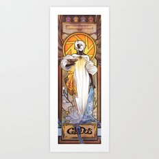 our lady of science Art Print