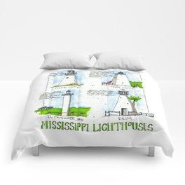 Mississippi Lighthouses Comforters