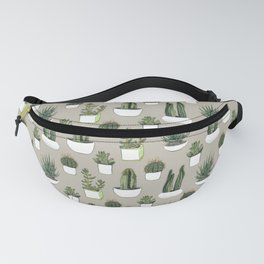 Watercolour cacti & succulents - Beige Fanny Pack