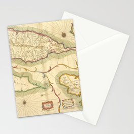 A new mapp of the Island of St. Christophers, being an actuall survey taken by Mr. Andrew Norwood, survey.r Gen.ll , A new mapp of the Island of Guard Stationery Cards