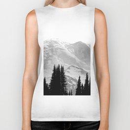 Mount Rainier Black and White Biker Tank