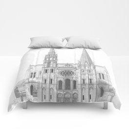 Cathedrale De Chartres Chartres Cathedral Comforters