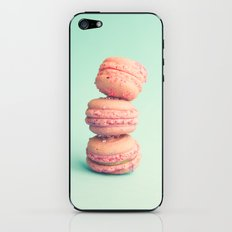 Pink Macaroons on Mint  iPhone & iPod Skin