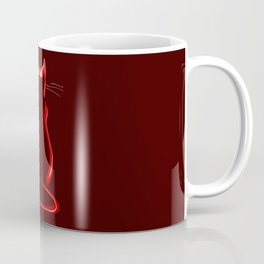 Sitting Cat from behind in Claret Coffee Mug