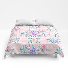 Beautiful watercolor garden floral paint Comforters