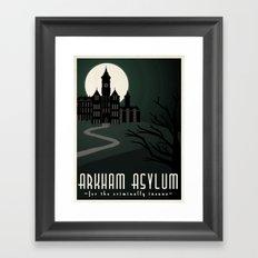 Arkham Asylum for the Criminally Insane Framed Art Print