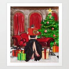 The Christmas Book Art Print