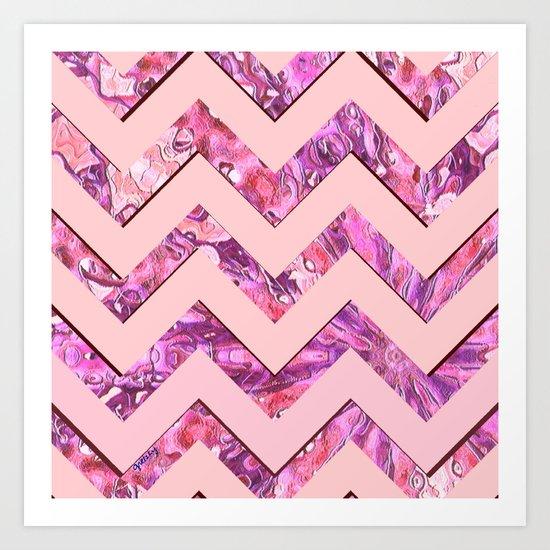 Girly Pink Art Print